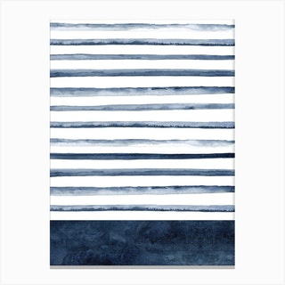 Watercolor Lines Canvas Print