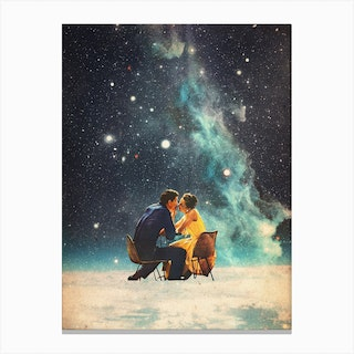 Ill Take You To The Stars For A Second Date Canvas Print