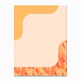 Mid Century Tropical Orange Way Canvas Print