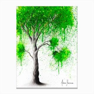 Green Acre Tree Canvas Print