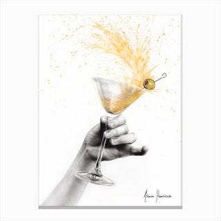 Shaken Martini Canvas Print