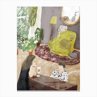 Piano And Wine Canvas Print