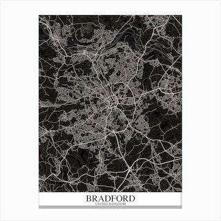 Bradford Black Blue Canvas Print