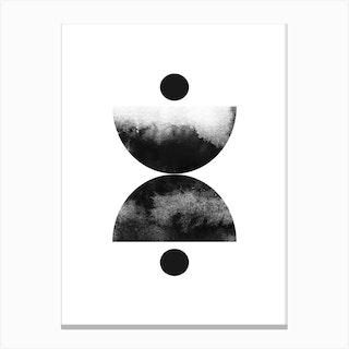 Abstract Circles One Canvas Print
