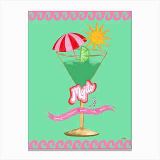Cocktail Collection Mojito Canvas Print