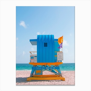 Once Upon A Time In Miami Beach Canvas Print