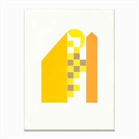 Yellow Houses Canvas Print