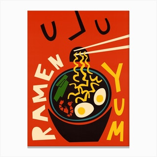 Yum Ramen Canvas Print