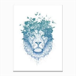 Floral Lion Canvas Print