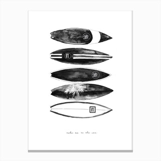 Fashion Surfboards Canvas Print