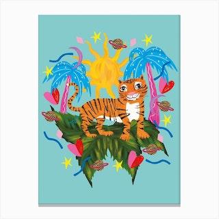 Colourful Tiger Canvas Print