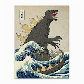 The Great Monster Off Kanagawa Canvas Print