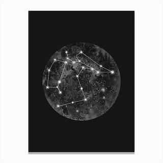 Constellation Black Canvas Print