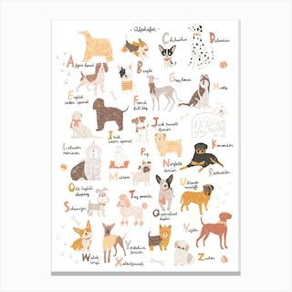 Abc Dogs Canvas Print