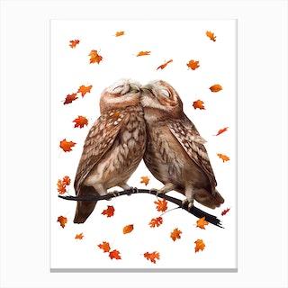 Autumn Owls Canvas Print
