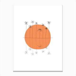 Sunset Palm II Canvas Print