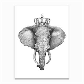 The King Elephant Canvas Print