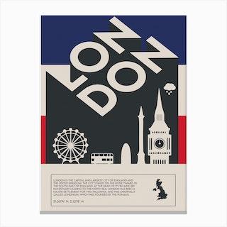 The London Canvas Print