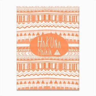 Hakuna Matata Orange Canvas Print