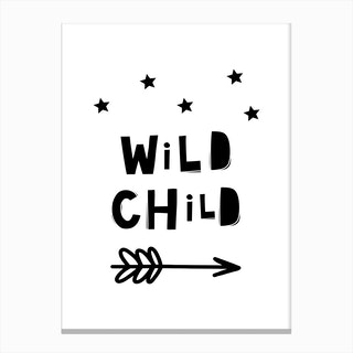 Scandi Wild Child Stars And Arrow Canvas Print