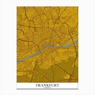 Frankfurt Yellow Blue Canvas Print