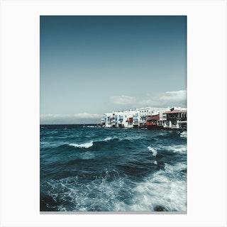 Mykonos Sea Canvas Print
