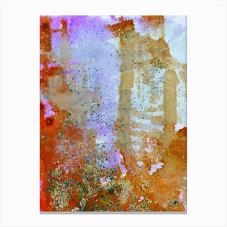 Abstract Copper And Lilac Canvas Print