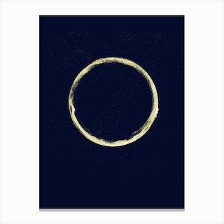 Full Circle 2 Blue Canvas Print