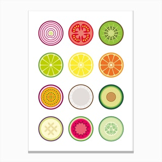 Fruit and Vegetables Canvas Print