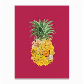 Pineapple Pink Canvas Print