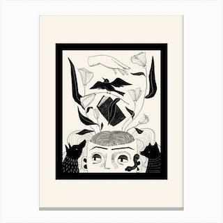 Witchs Familiars Canvas Print