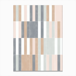 Muted Pastel Tiles 03 Canvas Print