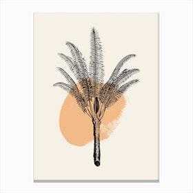 Tropical Tree Light Orange Canvas Print