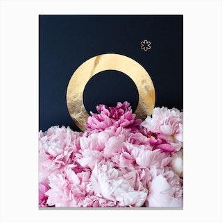 Flower Alphabet O Canvas Print