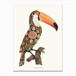 Boho Toucan Canvas Print