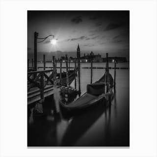 Venice Gondolas During Sunrise Canvas Print