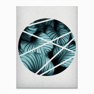 Circle V Canvas Print