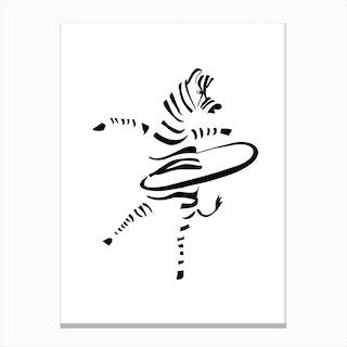 Hula-Hoop Zebra Canvas Print