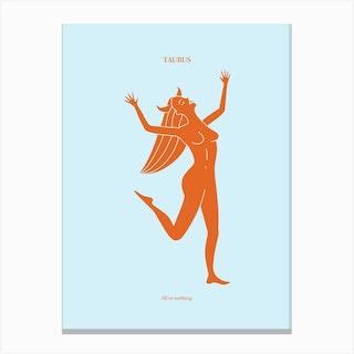 Taurus Zodaic Canvas Print