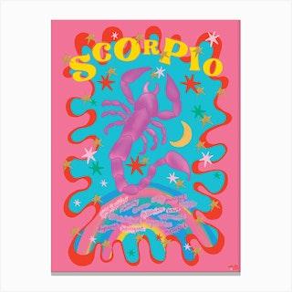 Scorpio Zodiac Starsign Canvas Print