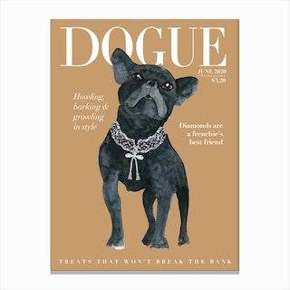 Fashion Frecnhie Dogue Cream Canvas Print