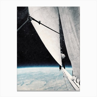 Sailing In Space Canvas Print