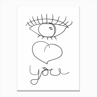 I Love You XX Canvas Print