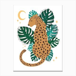 Leopard Leaf Canvas Print