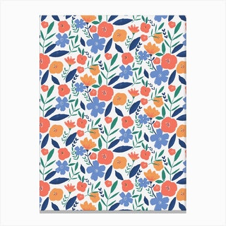 Bolf Floral Pattern Canvas Print