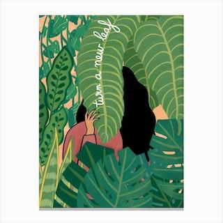 Turn A New Leaf Canvas Print