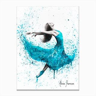 Turquoise Rain Dancer Canvas Print