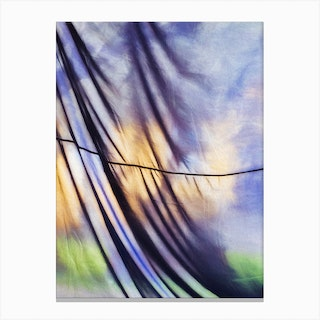 Curtained Canvas Print