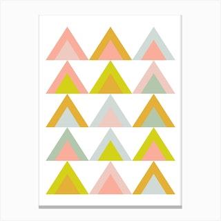 Pastel Triangles 1 Canvas Print
