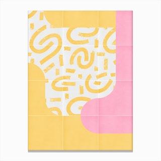 Sunny Doodle Tiles 03 Canvas Print